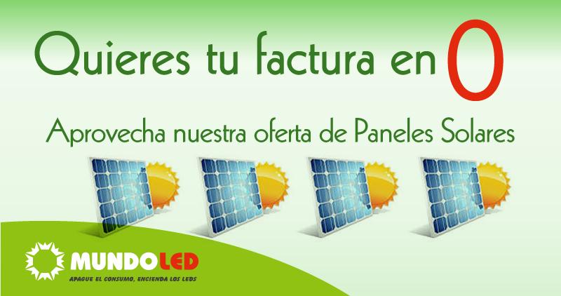 oferta de paneles solares