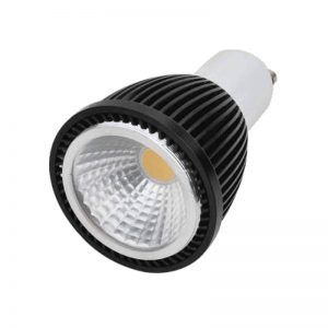 BOMBILLA LED DICROICA 5W COB. BLACK GU10/MR16 110V CW ​/​WW