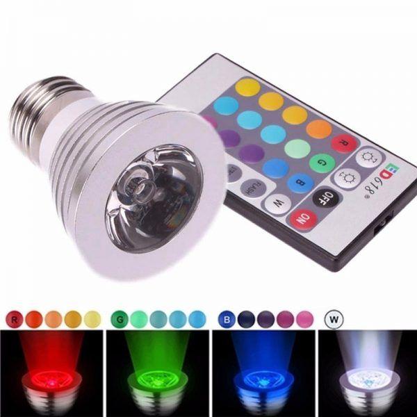 BOMBILLA LED DICROICA RGB E27