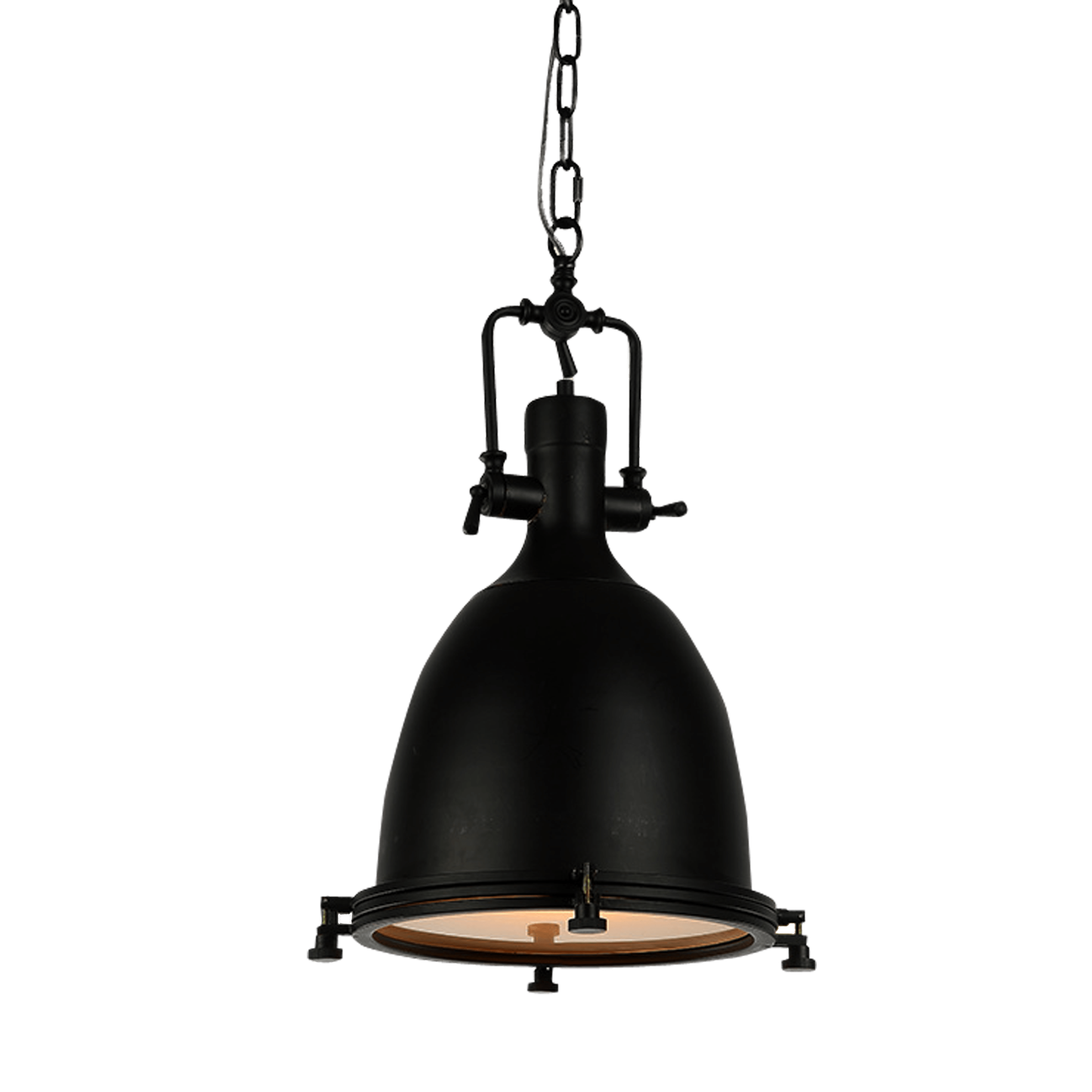 L mpara decorativa tipo industrial negra mundo led - Lamparas de techo tipo industrial ...